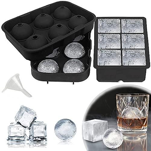 Stampo Cubetti Ghiaccio, Stampi in Silicone per Cubetti Ghiaccio, Vassoio del cubo di Ghiaccio del Silicone del commestibile, per Ghiaccio per congelatore, Whisky, Cocktail e Altre Bevande
