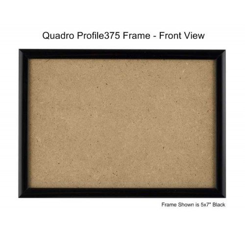 Quadro Frames 7x9 inch Picture Frame, Black, Style P375-3/8 inch Wide Molding