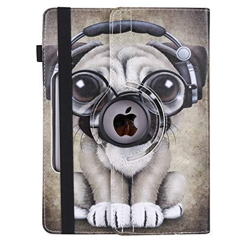 XTstore Funda Universal Tablet 10.1 Pulgadas, 360 Grados Rotación Protectora Carcasa para iPad 10.2 2019, Samsung Galaxy Tab A6 10.1, Lenovo TB-X103F, Huawei MediaPad M5 Lite/T5 10, Perro