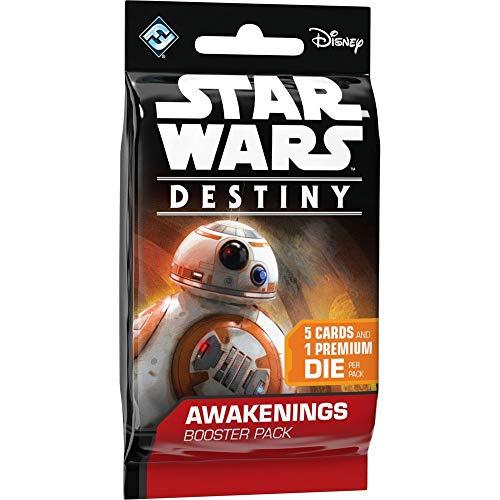 Fantasy Flight Games Star Wars Destiny - Caja de Mejora de Cartas,Contiene 36 Paquetes (Total de 180Cartas y 36 Dados)
