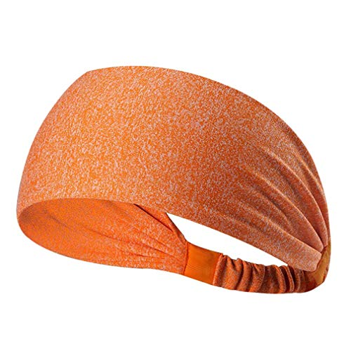 Dames Sport Yoga Haarband Anti-transpirant Tulband Sneldrogend Zweetband Haarband Running Fitness Hoofdband (oranje)