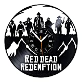 Leooolukkin Red Dead Redemption Vinyl Clock, Red Dead Redemption Wall Clock 12', Original Gifts for Fans Red Dead Redemption, The Best Home Decorations