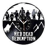 Leooolukkin Red Dead Redemption Vinyl Clock, Red Dead Redemption Wall Clock 12', Original Gifts for...