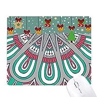 印刷を繰り返して布のカラフルな花びらのアート ゲーム用スライドゴムのマウスパッドクリスマス