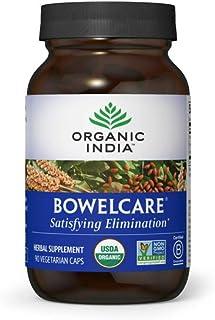 Organic India Bowelcare Herbal Supplement - Satisfying Elimination, Vegan, Gluten-Free, Kosher, USDA Certif...