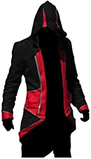 Cosplay Costume Hoodie/Jacket/Coat-9 Options for The Fans, Black with red, Men S