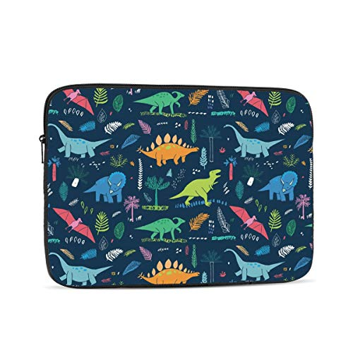 KXT Cartoon Dinosaurs Laptop Sleeve,Carrying Bag Chromebook Case Notebook Bag Tablet Cover