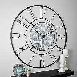 FirsTime & Co. Fulshaw Gears Wall Clock, 36, Black