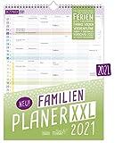 FamilienPlaner XXL 2021 mit 7 Spalten, 33 x 44 cm | Wandkalender Jan - Dez 2021 | Familienkalender Wandplaner: Ferientermine, viele Zusatzinfos + Vorschau bis März 2022 | nachhaltig & klimaneutral