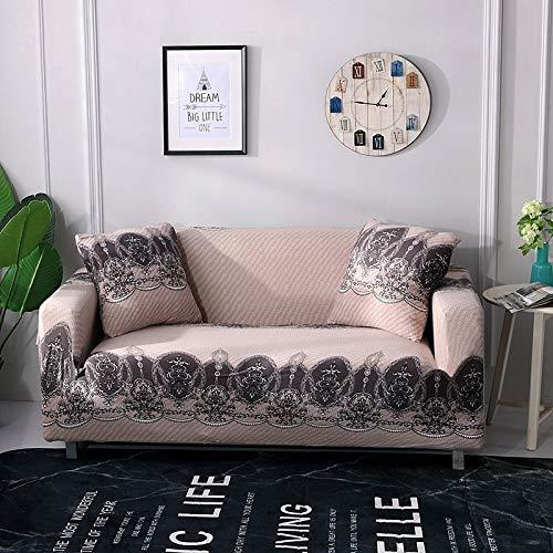 ASCV Fundas de sofá Fundas de sofá elásticas para Sala de Estar Fundas de sofá elásticas Loveseat Muebles seccionales Protector de Silla A6 2 plazas