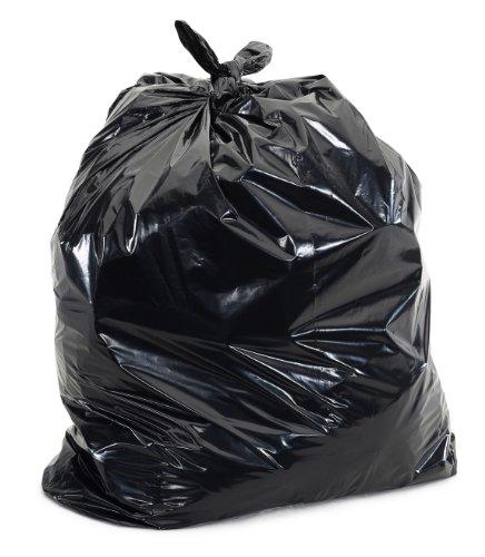 Plasticplace W25LDB3 Bolsas de basura negras de 25 a 30 galones, 76,2...