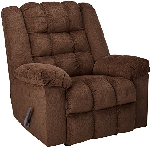 Signature Design by Ashley - Ludden Contemporary Rocker Recliner - One-Pull Reclining,...