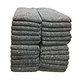 UBOXES Moving Blankets Professional Quality Textile Skins 54' x 72' Pads, Grey (24-Pack)