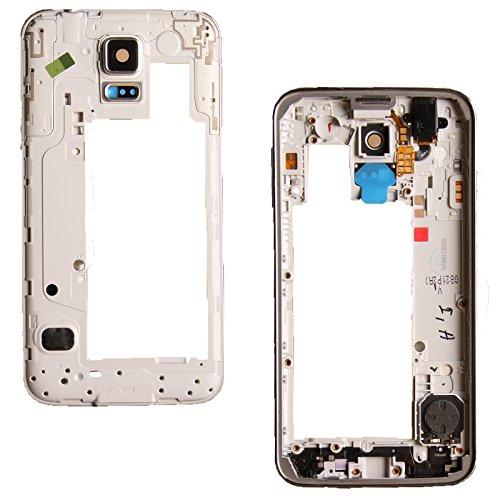 Sintech.DE Limited Mittelrahmen passend für Samsung Galaxy S5 Neo G903f in Silber inkl. Kopfhörerbuchse, Lautsprecher, Laut/Leise Flex, Kameraglas und Powertaste