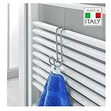 Metaltex Radius - Gancho toallero para radiador de baño (Revestimiento de...