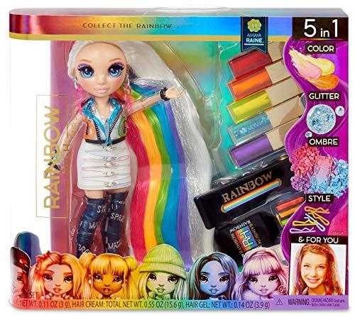 Rainbow High Haarstudio - Exklusive Amaya Raine Puppe mit extra langem Haar und waschbaren 5-in-1-Farben