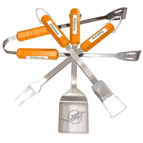 NFL Miami Dolphins 4-Piece Barbecue Set