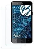 Bruni Schutzfolie kompatibel mit Archos 50 Titanium 4G Folie, glasklare Bildschirmschutzfolie (2X)