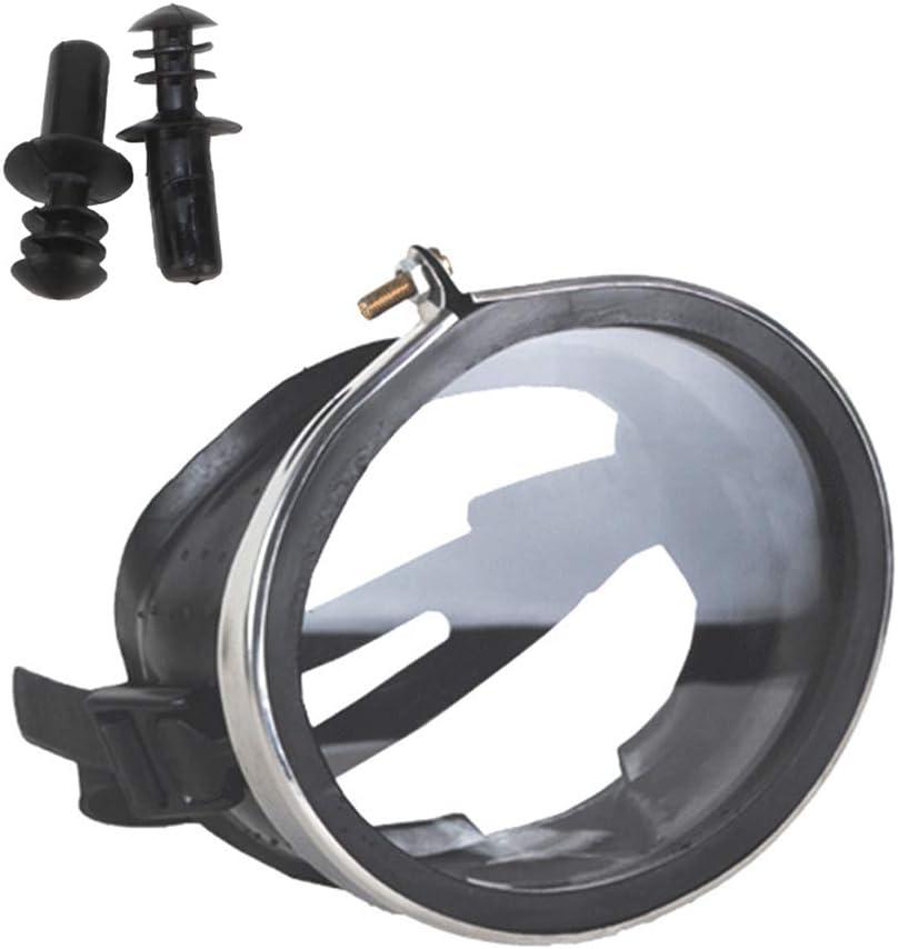 Gafas de buceo, gafas de snorkel, gafas de natación, antivaho sin fugas, con claridad, protección UV, gafas de natación profesionales con previsión de 180 °. Tapones auditivos fáciles de ajustar