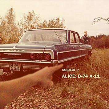 Subject Alice D-74 A-11