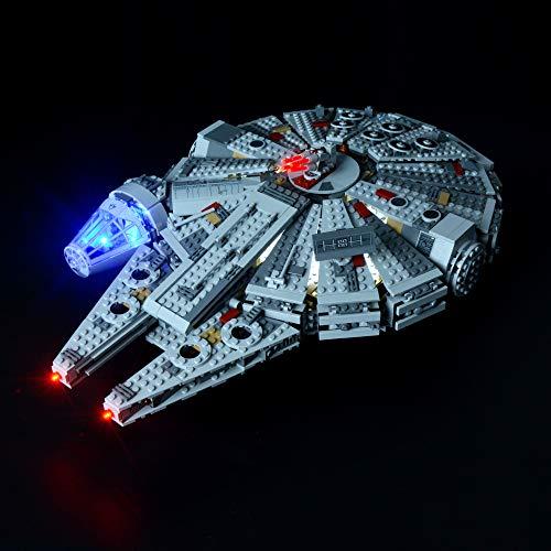 BRIKSMAX Kit de Iluminación Led para Halcón Milenario-Compatible con Ladrillos de Construcción Lego Modelo 75105-Juego de Legos no Incluido