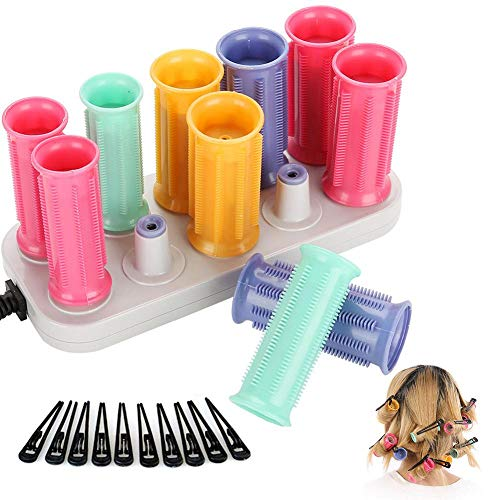 Electric Heated Rollers, Electric Curling Roll Hair Tube with Hair Clip Heated Curler Hair Styling Tool For Short and Long Hair