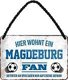 Blechschilder Hier wohnt EIN Magdeburg Fan/Offizieller