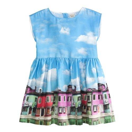 Jotdom meisjesjurk - jurk Safana kleur blauw, maat 116