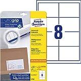 AVERY Zweckform 4782 Universal Etiketten (200 plus 40 Klebeetiketten extra, 97x67,7mm auf A4, bedruckbare Versandetiketten, selbstklebende Versandaufkleber mit ultragrip) 30 Blatt, weiß