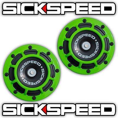Sickspeed 2Pc Neon Green Super New York Mall Los Angeles Mall Compact Blast Tone Loud Electric
