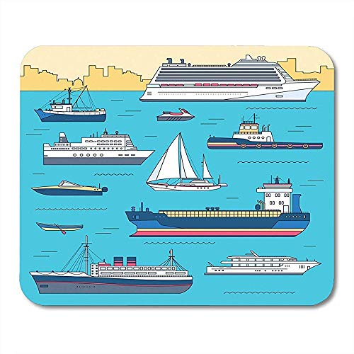Muis Pads Dunne Lijn Schip Flat Yacht Scooter Cargo Stoomschip Ferry Vissersboot Tug Bulk Carrier Vessel Plezier Muismat 25X30cm
