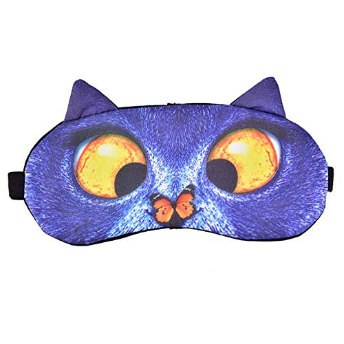 Venda de los ojos, linda del perro del gato del sueño máscara de visera, mejorar la calidad del sueño, agregar diversión a la vida, eliminar la fatiga ocular, la cubierta de la máscara de ojo natural,