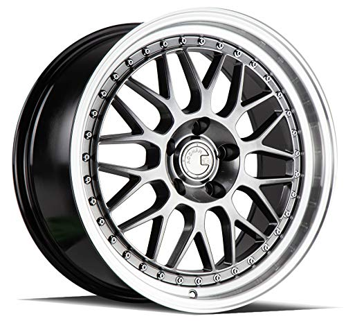 AodHan Dual Phase Forged AH02: 18x9.5 Wheel, 5x120 Bolt pattern, 72.6mm Hub Bore, 35mm Offset - Hyper Black w/Machined Lip