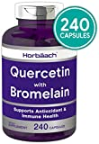 Quercetin with Bromelain Supplement | 240 Capsules | Non-GMO and Gluten Free | by Horbaach