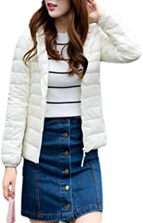 Macondoo Womens Outwear Packable Puffer Lightweight Jacket Warm Down Coat Jacket
