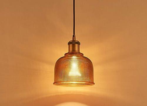 [1pack] abat-jour abat-jour en cristal de cristal de Bohême lustre en fer art de verre éclairage créatif simple pour le restaurant lustre chambre lustre,marron