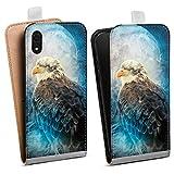 DeinDesign Tasche kompatibel mit Apple iPhone Xr Flip Hülle Hülle Adler Nacht Tiere