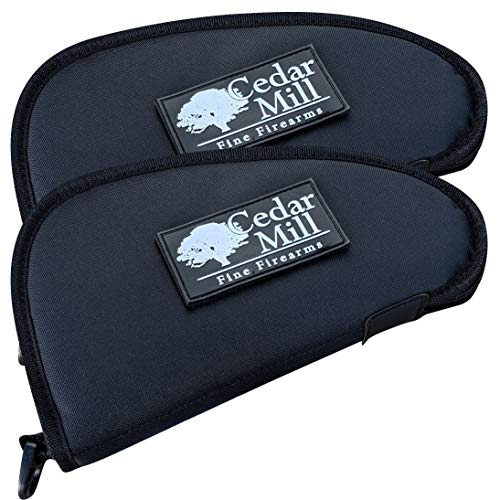 Review Cedar Mill Fine Firearms – Deluxe Tactical Soft Pistol Gun Rug Case | Thick Double Padding (2 Pack)