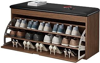 WUQIN Meuble à Chaussures Peu encombrant pour Banc à Chaussures imperméable Ashproof - 100 x 46 x 30 cm, avec Coussin remb...
