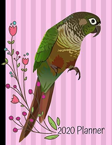 2020 Weekly Planner: Green Cheek Conure Bird Pink 2020 Weekly Planner Organizer Dated Calendar And ToDo List Tracker Notebook