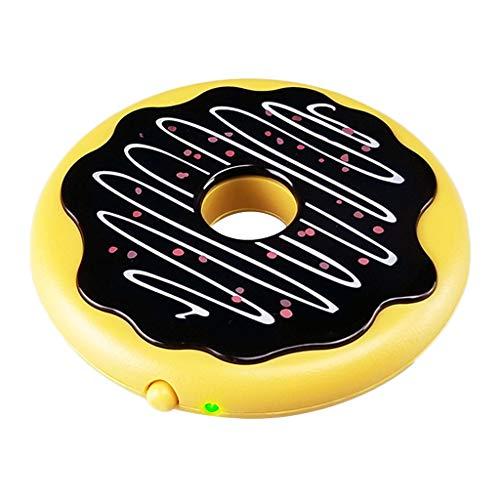 B Blesiya Donut Form USB Untersetzer Becher Wärmer Kühler 7,5 W 5V Tassenwärmer Becherwärmer für Zuhause, Büro, Kaffeehaus
