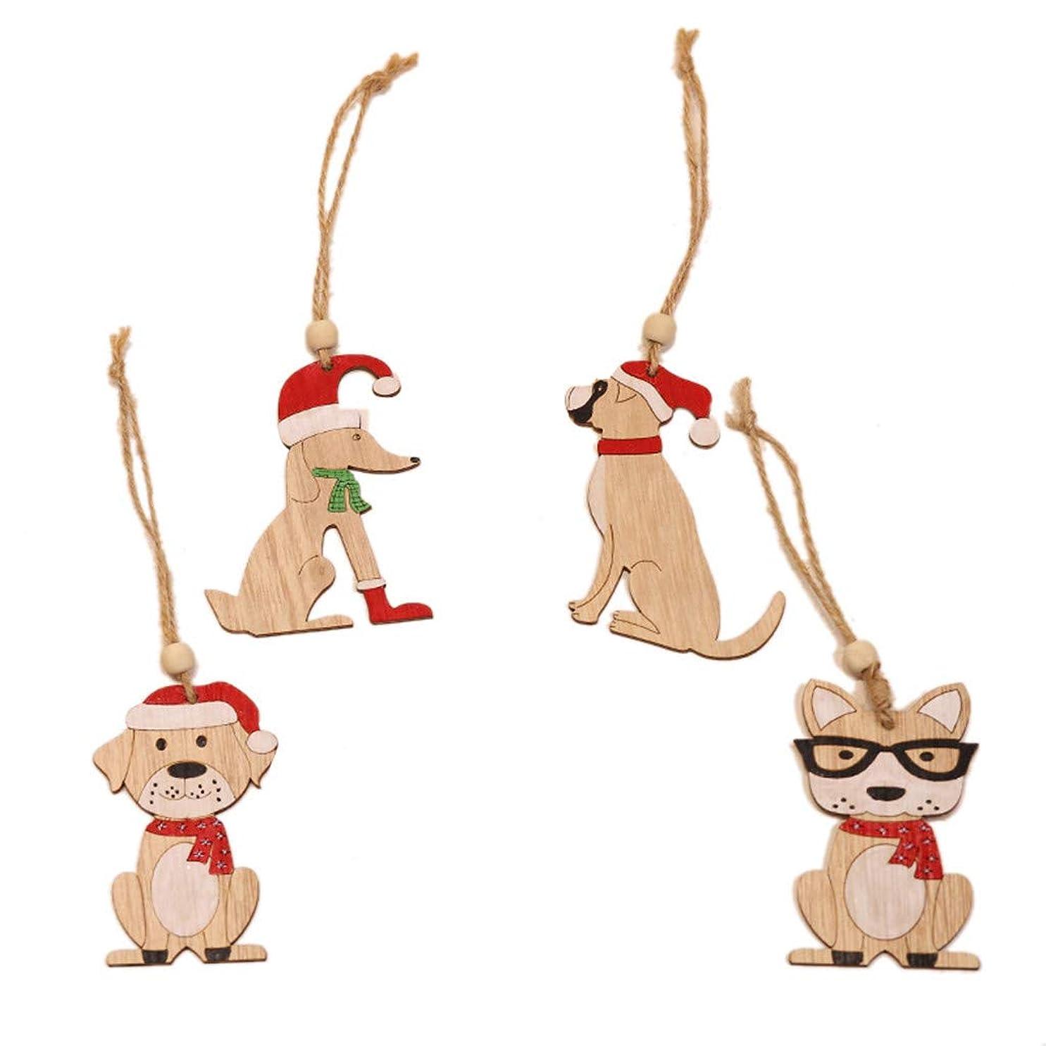 盟主艶シガレットHLosanyy 8ピース木製ぶら下げクリスマスツリーキャビンエルク車飾りクリスマスパーティー家の装飾