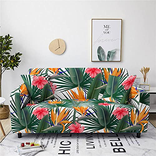 Funda Sofas 2 y 3 Plazas Cártamo Blanco Fundas para Sofa con Diseño Elegante Universal,Cubre Sofa Ajustables,Fundas Sofa Elasticas,Funda de Sofa Chaise Longue,Protector Cubierta para Sofá