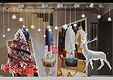 Yuson Girl Weihnachten Aufkleber Fenster Groß Süß Elch Und Weihnachtsbaum Abnehmbare Weihnachten Deko Wandtattoo Weihnachten Statisch Haftende PVC Aufkleber Fensteraufkleber Wandaufkleber Weihnachten - 4