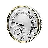 Thermomètre de Sauna, Thermomètre de Sauna 2 en 1 Mini thermomètre de Sauna Rond Hygromètre Outil de Mesure de lhumidité de la température Pièce de Sauna pour intérieur extérieur utilisé