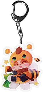 Peoria League of Legends Keychain, Kawaii Anime Keyring for Bags, Keys and Pencil Cases(Teemo)