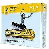 Gibbon Slacklines Classic Line, Gelb, 25 Meter, 22,5m Band + 2,5m Ratchendband, inklusive Ratschenschutz & Ratschenrücksicherung, 50 mm breit - 4
