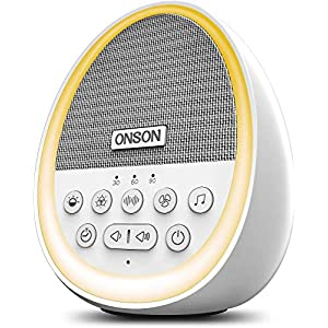 ONSON White Noise Machine,Sound Machine for Sleeping & Relaxation, with Baby Soothing Night Light, 29 High Fidelity Nature Sounds, Sleep Sound Therapy for Home, Office, Travel, Baby, Kids and Adults