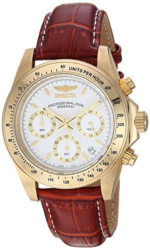 Invicta Men's 7032 Signature Collection Speedway Gold-Tone Chronograph Watch