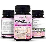 Pueraria Mirifica Capsules 5000mg | Natural Breast Enhancement Pills for Women | Breast Enlargement Pills | Breast...